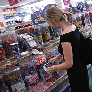Shopper buys pic 'n' mix