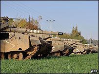 Israel movilizó sus tanques