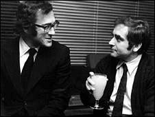 Harold Pinter and Henry Woolf in 1973