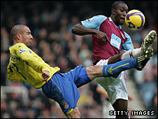 Danny Higginbotham and Carlton Cole