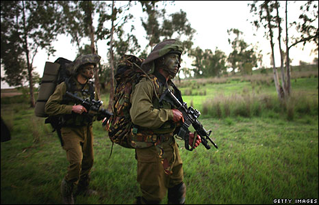 Israeli special forces near border with Gaza, 28 Dec 08