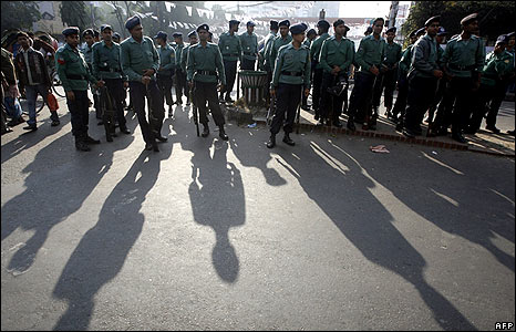 Security on the streets ahead of the poll