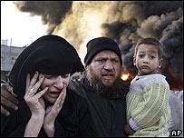 Una familia palestina
