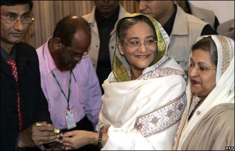 Sheikh Hasina of the Awami League