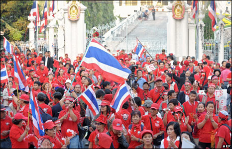 Pro-Thaksin protesters outside parliament
