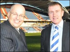 Nigel Clibbens, left, with Dean Hoyle