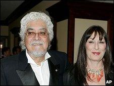 Robert Graham and Angelica Huston