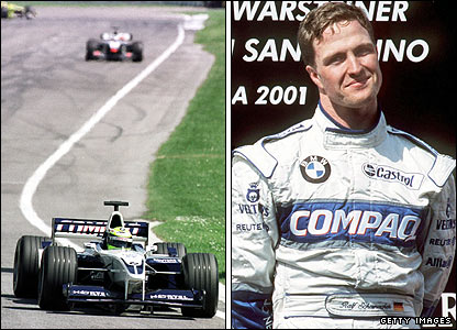 Ralf Schumacher claims victory at the 2001 San Marino GP