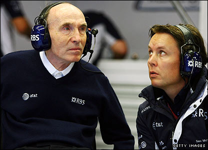 Sir Frank Williams and technical director Sam Michael