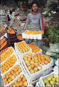 Vendedor de fruta en Jordania