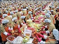 Mujeres cocinando en Corea del Sur