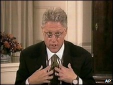 Clinton, Bill during his grand jury testimony