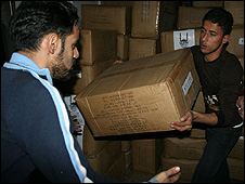 Islamic Relief Worldwide workers in Gaza
