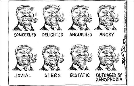 Portraits of Thabo Mbeki by Zapiro