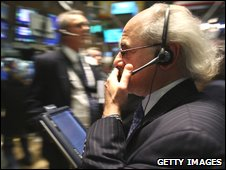 A trader in the New York Stock Exchange
