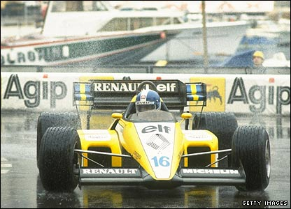 Derek Warwick in action during the 1984 Monaco Grand Prix