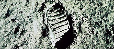 Footprint on surface of the Moon (Image: Nasa)