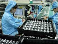 Fábrica de teléfonos móviles