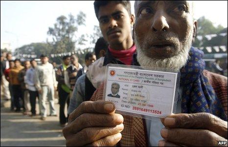 Voter in Bangladesh