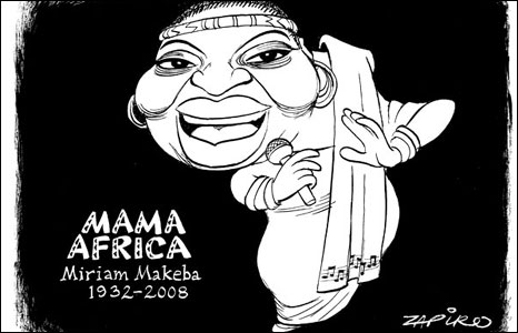 Miriam Makeba by Zapiro