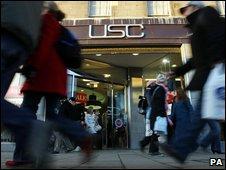 USC shop in Edinburgh