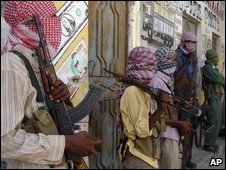 Al-Shabab insurgents in Mogadishu on 27 December 2008