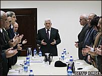 Reunión de los líderes de la Organización para la Liberación de Palestina.