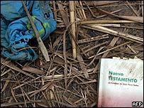 Objetos personales de un inmigrante indocumentado