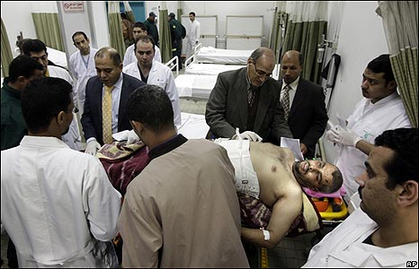 Wounded Palestinian being treated in Cairo