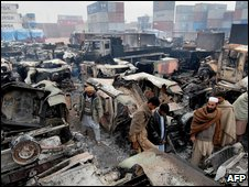 Peshawar supply base destroyed in December
