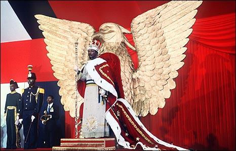 Self-coronation of Emperor Bokassa I (Jean Bedel Bokassa)