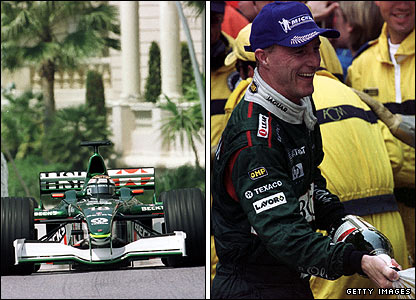 Eddie Irvine drives to third in the 2001 Monaco Grand Prix