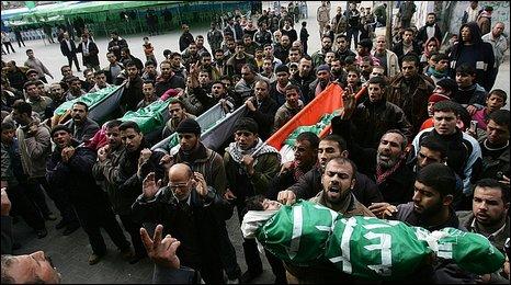 The funerals of the five Baloosha siblings, 29 December 2008