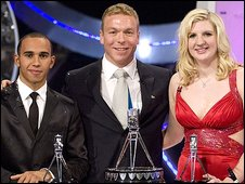 Lewis Hamilton, Chris Hoy and Rebecca Adlington
