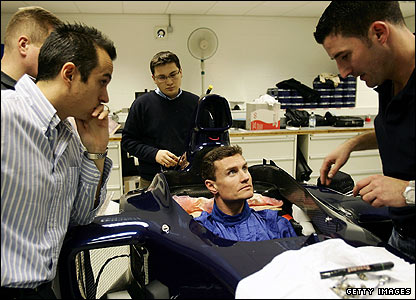 David Coulthard in preparation for the 2005 season