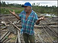 Afectado por el hurac�n Gustav en Cuba