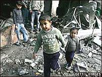 Niños en Gaza