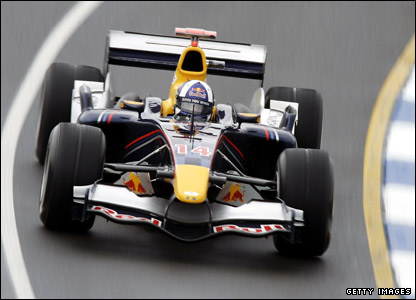David Coulthard in action at the 2005 Australian Grand Prix