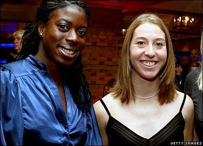 Christine Ohuruogu and Nicole Cooke