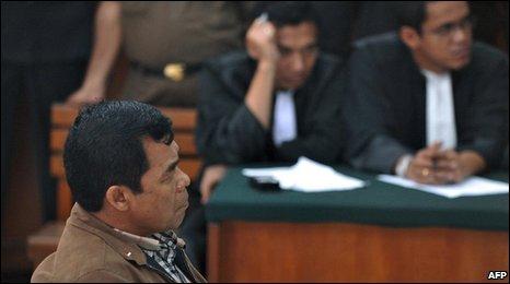 Muchdi Purwopranjono at the South Jakarta court in Jakarta on 31 December 2008