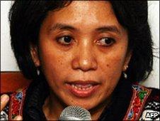 Suciwati, wife of Indonesian human rights activist