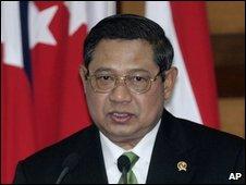 Indonesian President Susilo Bambang Yudhoyono, Dec 2008