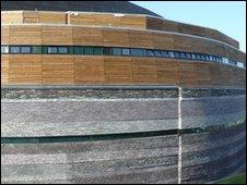The new building alongside the WMC