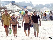 Tourists in Goa