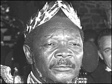 Jean Bedel Bokassa at his coronation in 1977