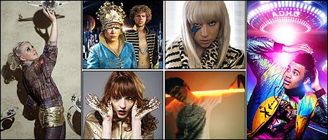 Sound of 2009 acts, clockwise from left: Little Boots, Empire of the Sun, Lady GaGa, Master Shortie, Dan Black, Florence and the Machine