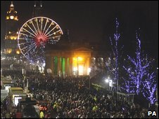 Hogmanay festivities in Edinburgh