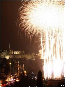 New Year fireworks in Edinburgh