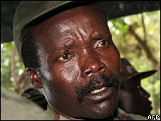 File photograph of Joseph Kony from 2006