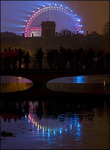 Fireworks seen from St James's Park [Pic: Tony Killen]